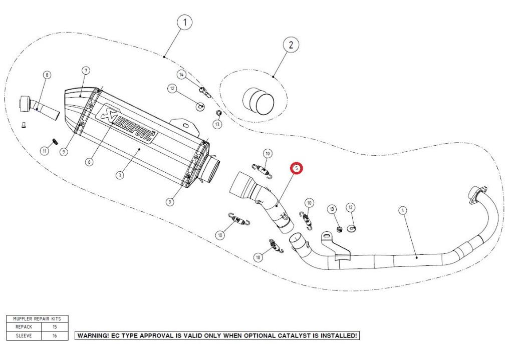 【リペアパーツ】L-H125R1 link pipe SS