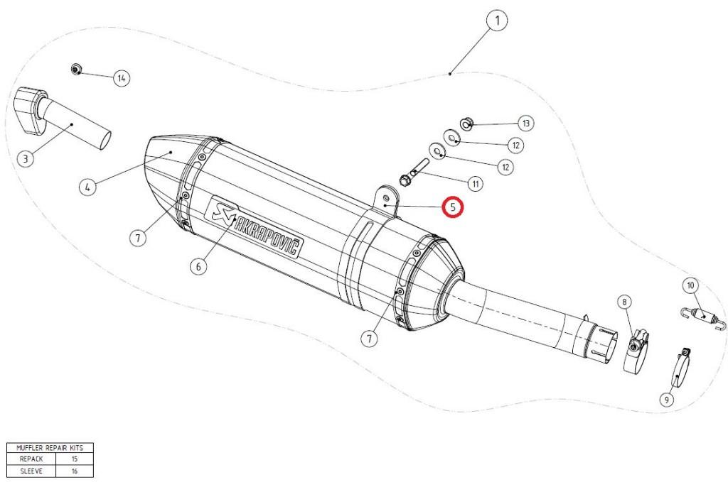 【リペアパーツ】P-MCCR29 muffler clamp ca
