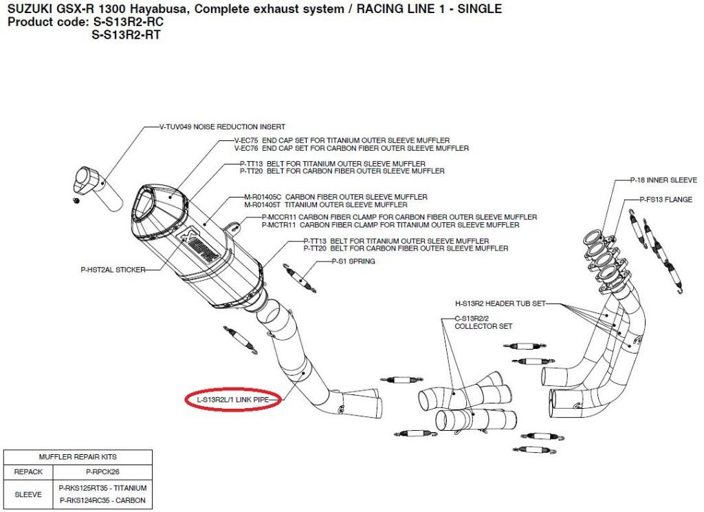 【リペアパーツ】L-S13R2L/1 link pipe