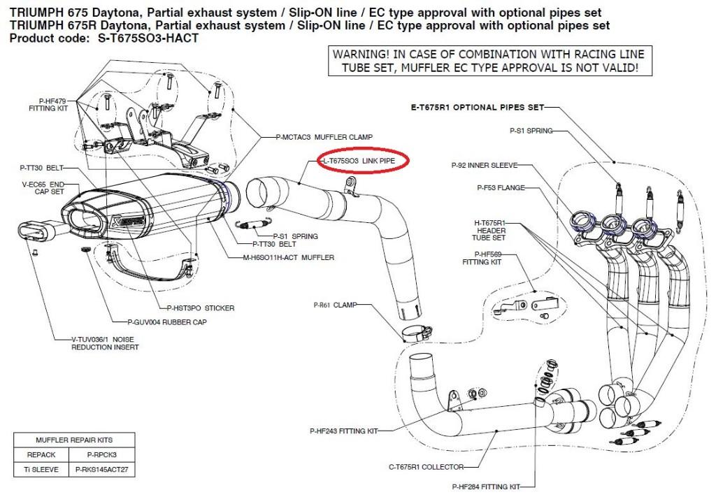 【リペアパーツ】L-T675SO3 link pipe