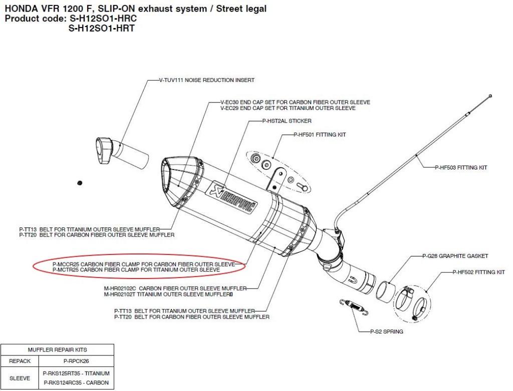 【リペアパーツ】P-MCTR25 carbon fiber clamp for titanium outer sleeve