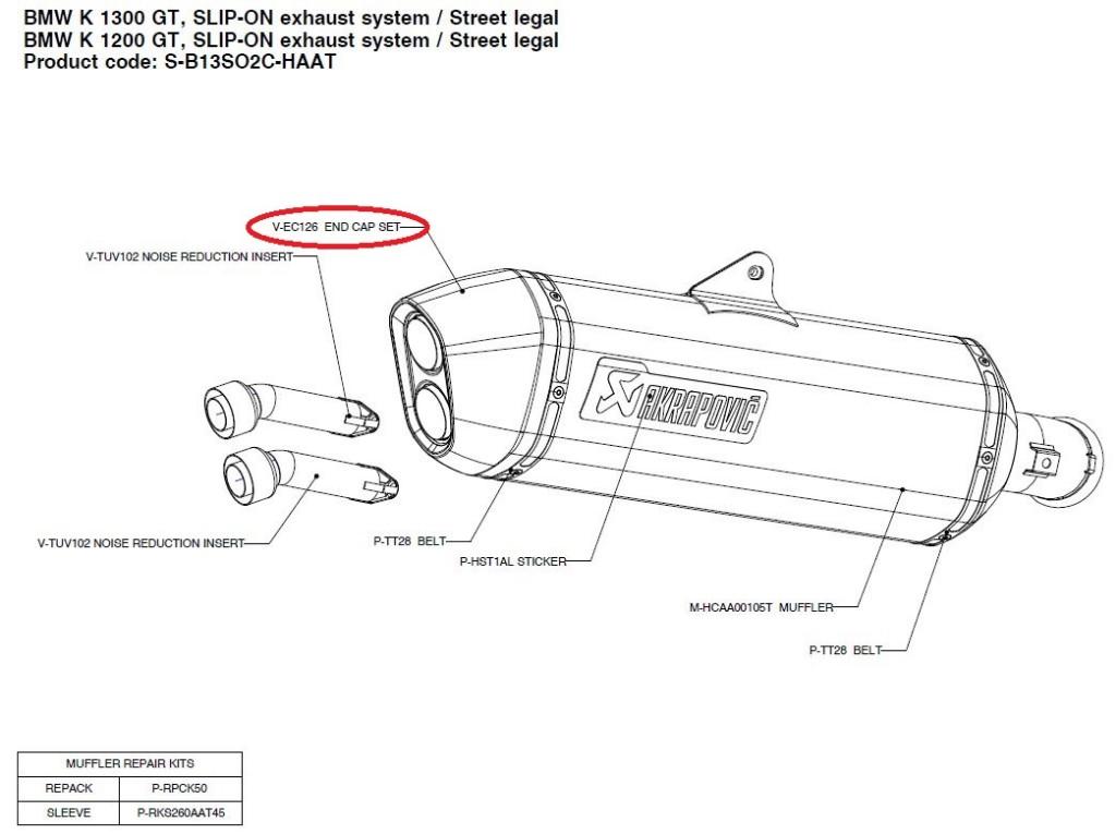 【リペアパーツ】V-EC126 end cap set