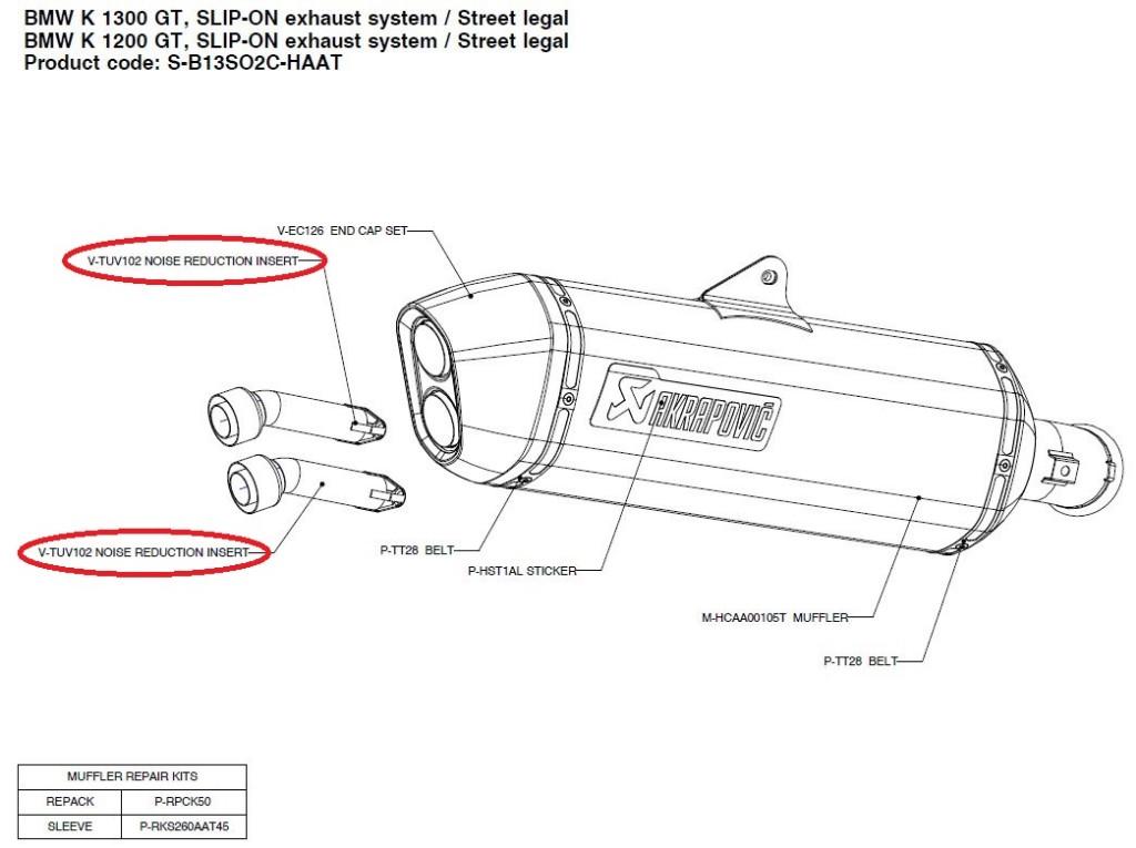 【リペアパーツ】V-TUV102 noise reduction insert