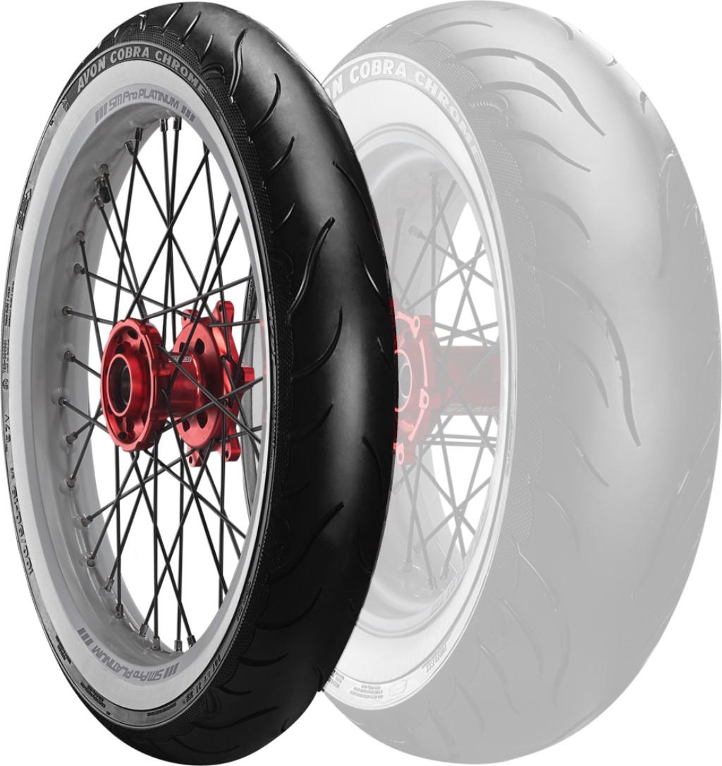 Cobra Chrome AV91 WW【100/90-19 57V】コブラクローム ホワイトウォール タイヤ