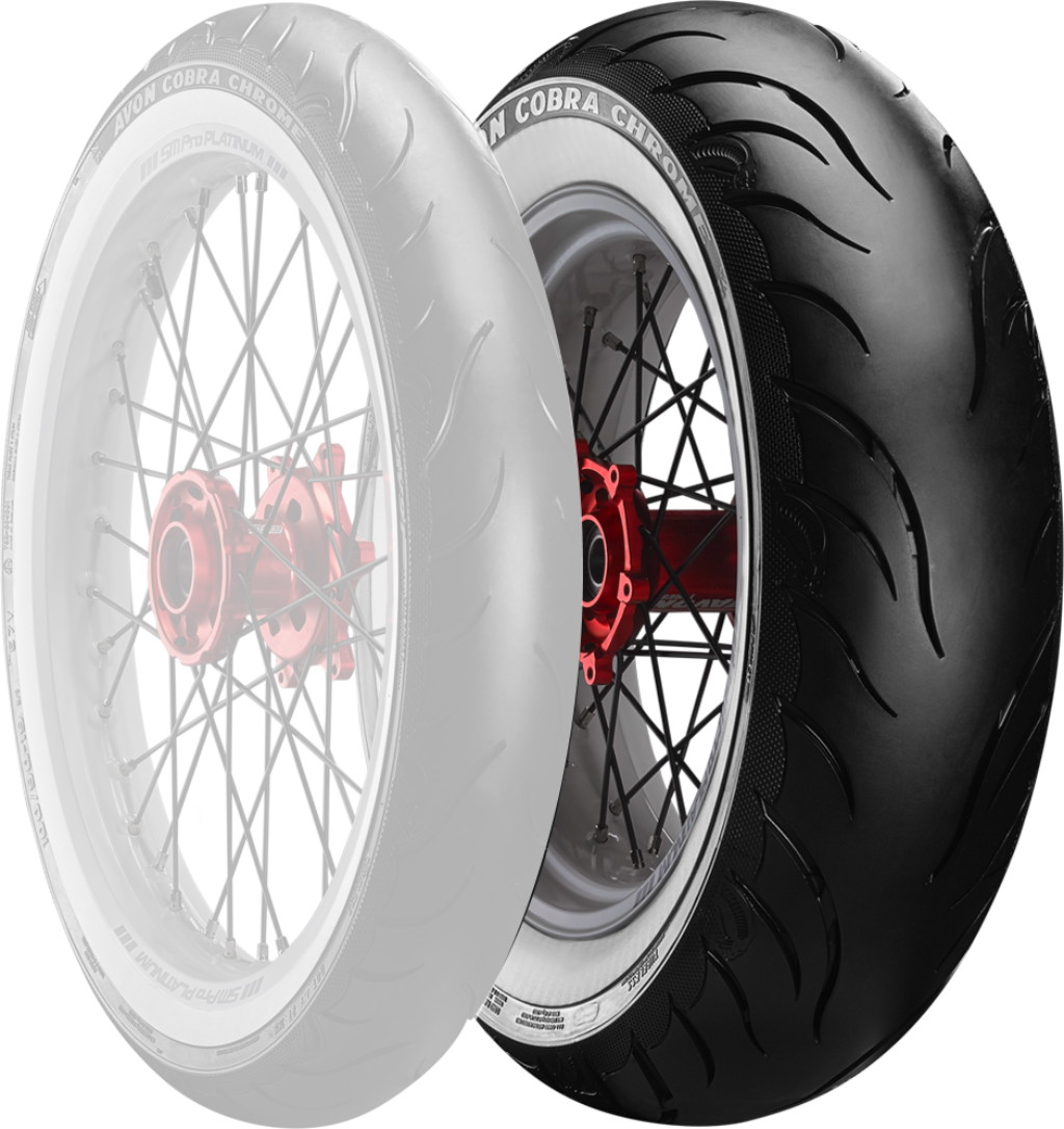 Cobra Chrome AV92 WW【140/90B16 77H】コブラクローム ホワイトウォール タイヤ