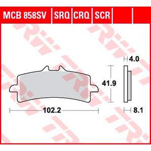 BRAKE-PADS SINTER MCB 858 SRT