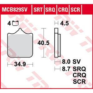 BRAKE-PADS SINTER MCB 829 SRT