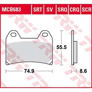 BRAKE-PADS SINTER MCB 683 SRT