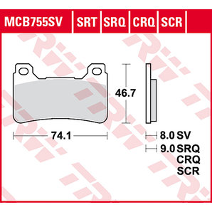 BRAKE-PADS SINTER MCB 755 SRT