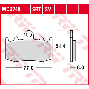 BRAKE-PADS SINTER MCB 748 SRT