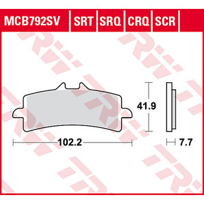 BRAKE-PADS SINTER MCB 792 SRT