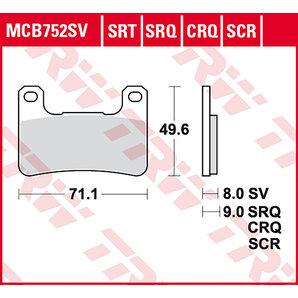 TRW ティーアールダブルBRAKE-PADS SINTER MCB 752 SRT