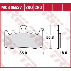 BRAKE-PADS SINTER MCB 856 SRT