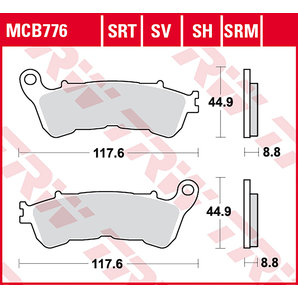 BRAKE-PADS SINTER MCB 776 SRT