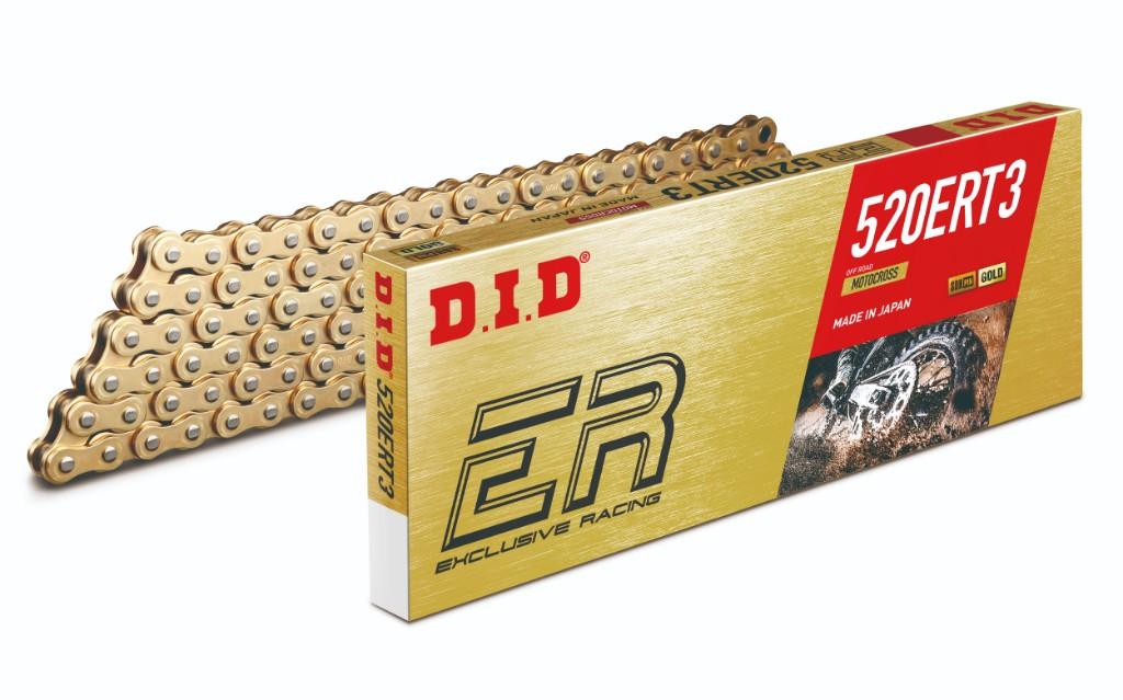 DID ダイドーERシリーズチェーン 520ERT3 ゴールド (モトクロス競技向け)