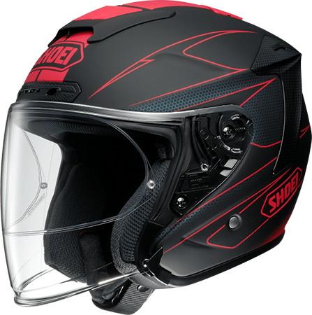 SHOEI ショウエイJ-FORCE IV MODERNO [ジェイ-フォース フォー モデルノ TC-1 RED/BLACK マットカラー] ヘルメット