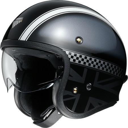 SHOEI ショウエイJ・O HAWKER [ジェイ・オー ホーカー TC-5 BLACK/SILVER] ヘルメット