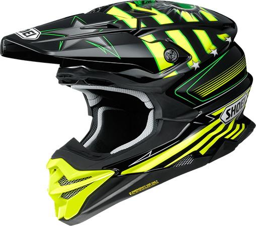 SHOEI ショウエイVFX-WR GRANT3 [ブイエフエックス-ダブリューアール グラント3 TC-3 YELLOW/BLACK] ヘルメット