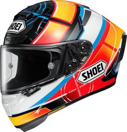SHOEI ショウエイX-14 DE ANGELIS [X-FOURTEEN エックス-フォーティーン デ アンジェリス TC-1 RED/WHITE] ヘルメット