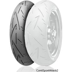 Continental コンチネンタルContiSportAttack2 【120/70 ZR 17 M/C (58W)TL】 コンチスポーツアタック2 タイヤ