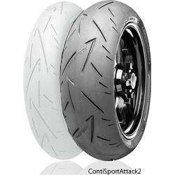 ContiSportAttack2 【180/55 ZR 17 M/C (73W) TL】 コンチスポーツアタック2 タイヤ
