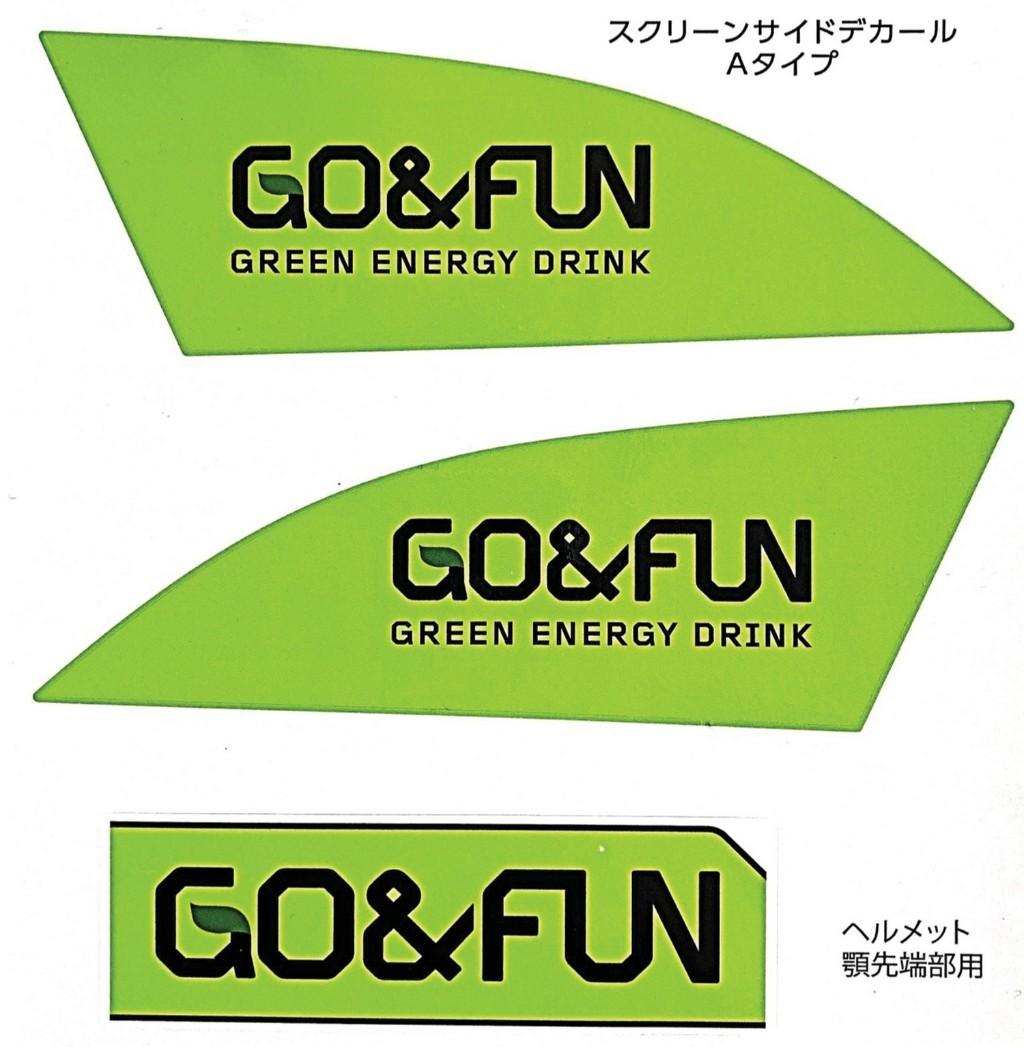 Team KAGAYAMA チームカガヤマ【Team KAGAYAMA公式応援グッズ】GO&FUN スクリーンサイドデカール