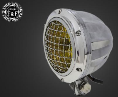 4インチビレットヘッドライト&ステーセット タイプB