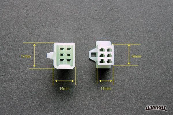【CHERRY】6 Pin 接頭組 (附端子) - 「Webike-摩托百貨」