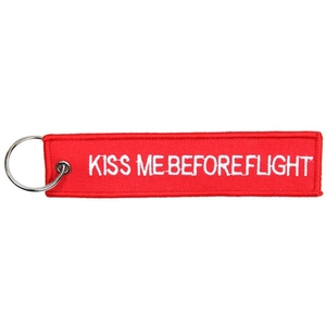 MCS エムシーエスkeychain red Kiss Me Before Flight