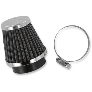 AIR FILTER CHROME END 52MM [1011-0459]
