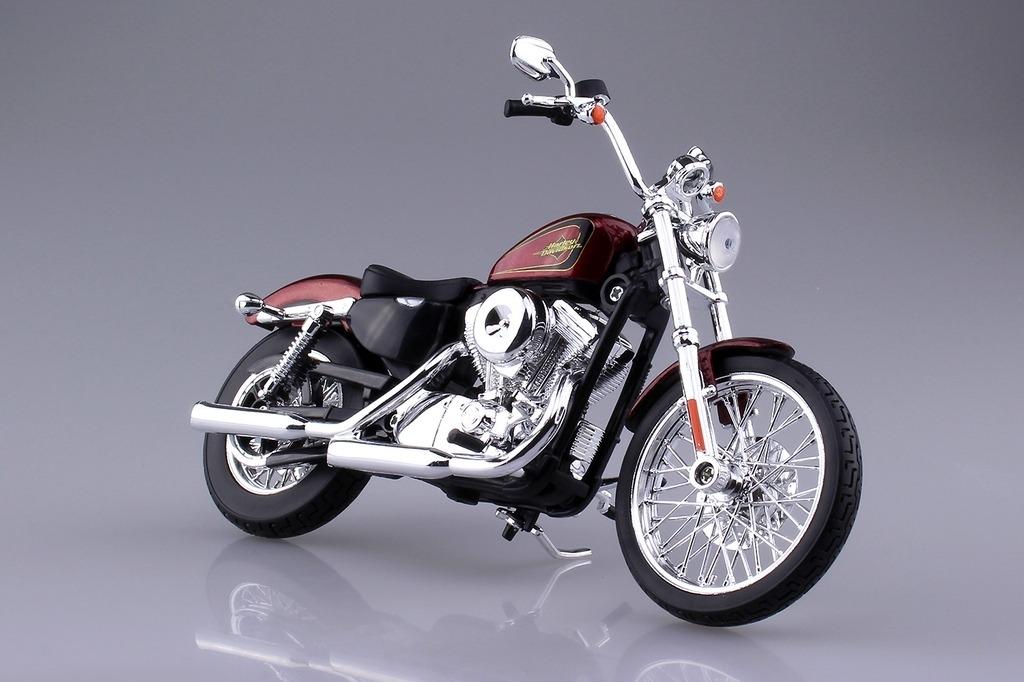 アオシマ 青島文化教材社[完成品バイクモデル]HARLEY-DAVIDSON 2012 XL 1200V セブンティーツー(レッド)