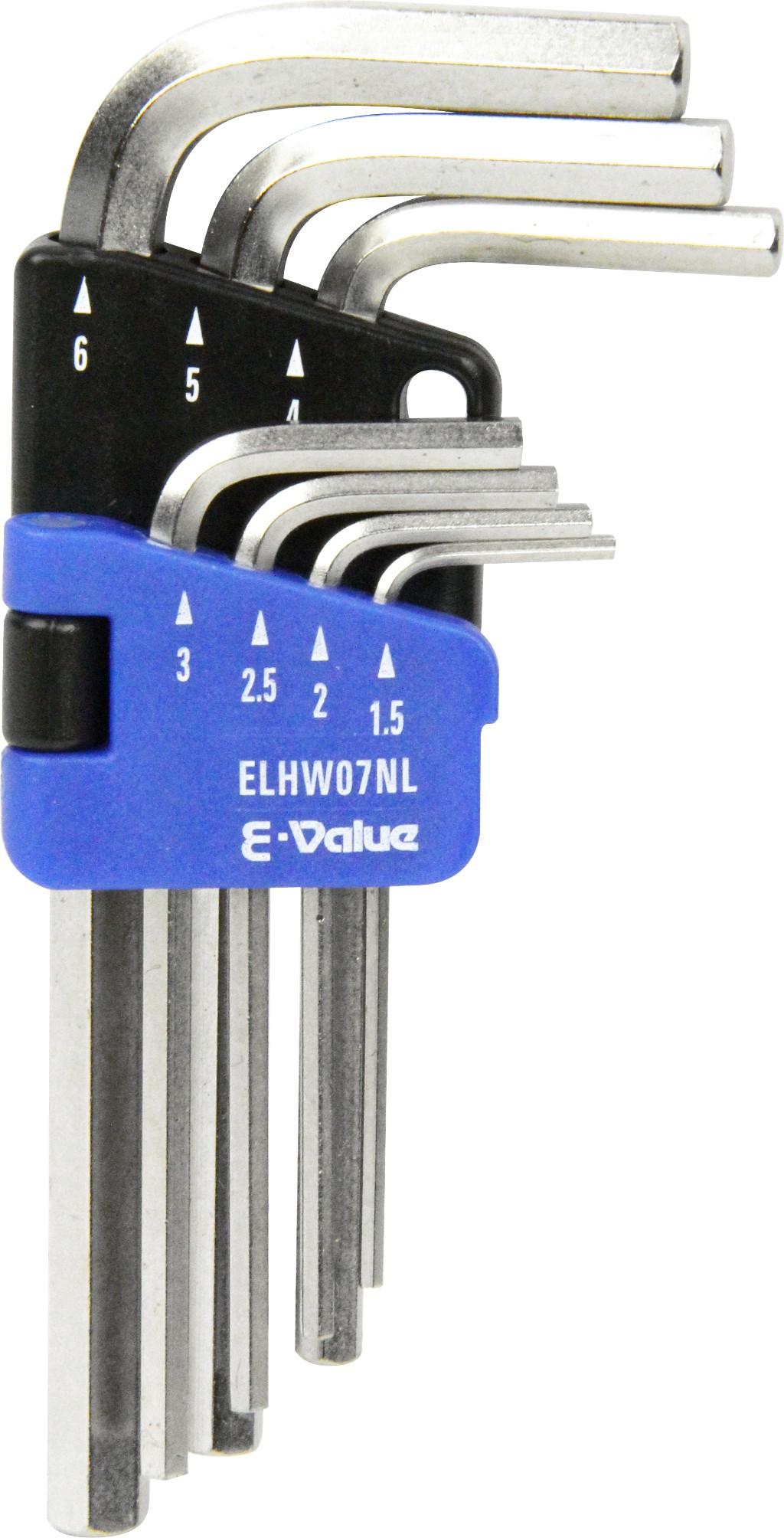 E-Value イーバリュー六角棒レンチセット ミリ ELHW07NL