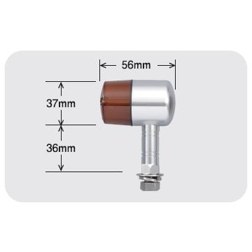 【POSH】鋁合金固定座71型式方向燈 長支架型式 - 「Webike-摩托百貨」