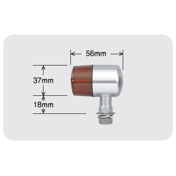 【POSH】TYPE71鋁合金方向燈(Nero短支架) - 「Webike-摩托百貨」