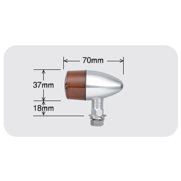 【POSH】砲彈型鋁合金方向燈(Nero短支架) - 「Webike-摩托百貨」
