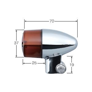 【POSH】新款鋁合金鑄造方向燈 砲彈型式 - 「Webike-摩托百貨」
