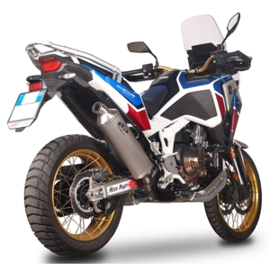 SLIP-ON DAKAR EURO 5 with connecting pipe for lateral mounting【マフラー】