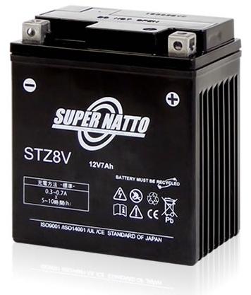 スーパーナット【長寿命・長期保証】【バイクバッテリー】【STZ8V】