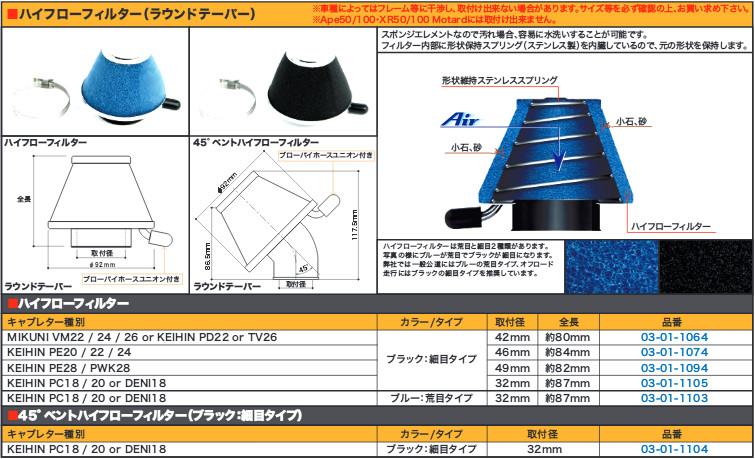 【SP武川】高流量濾芯(Taper/49mm黑色・細目) - 「Webike-摩托百貨」
