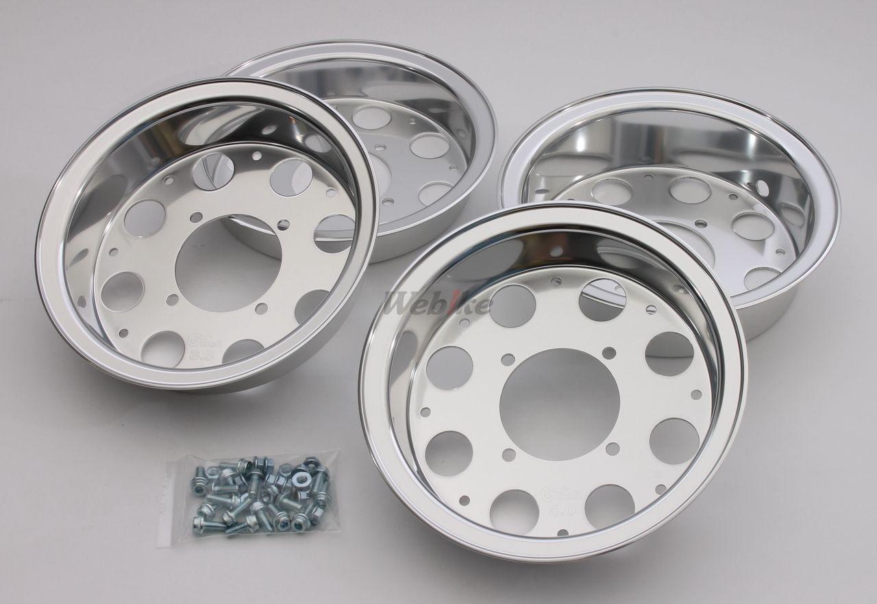 【G-Craft】3.5J+4.0J 8英吋寬版輪框   有開孔(一車份前輪+後輪) - 「Webike-摩托百貨」