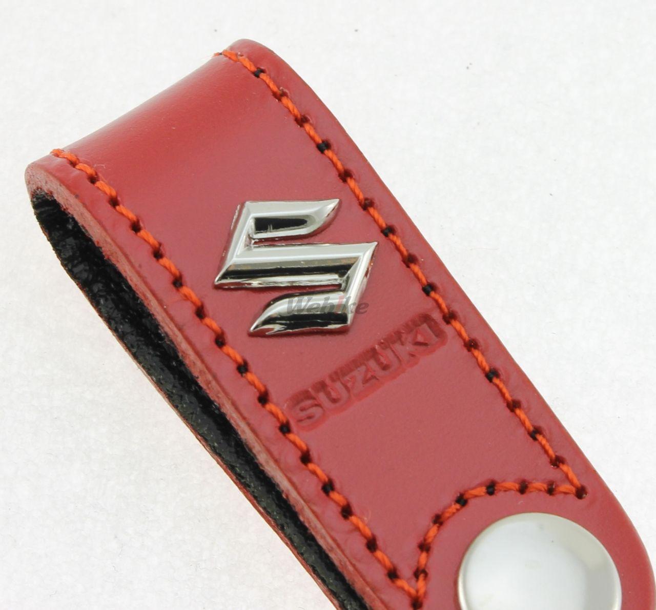 【SUZUKI】皮革吊環式鑰匙圈-紅色 <SEA BASS> - 「Webike-摩托百貨」