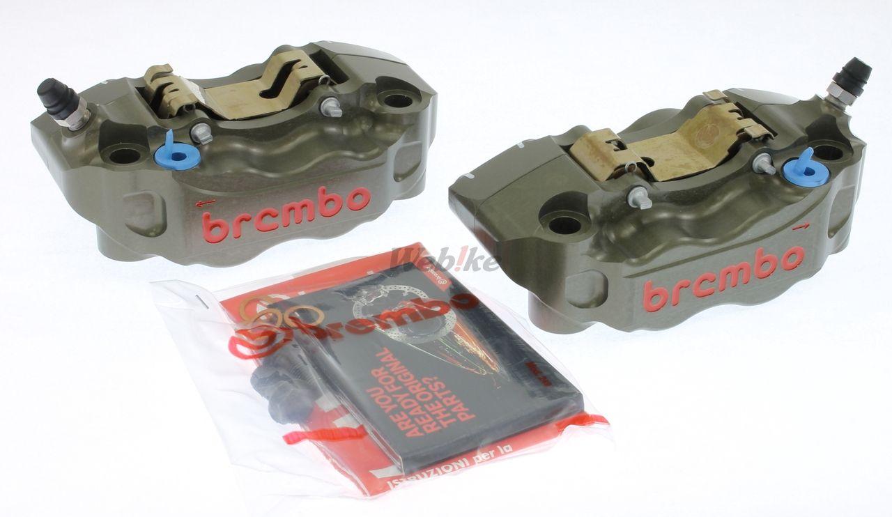 【brembo】P4 30/34 108mm CNC切削加工 輻射煞車卡鉗套件  (左右組) - 「Webike-摩托百貨」