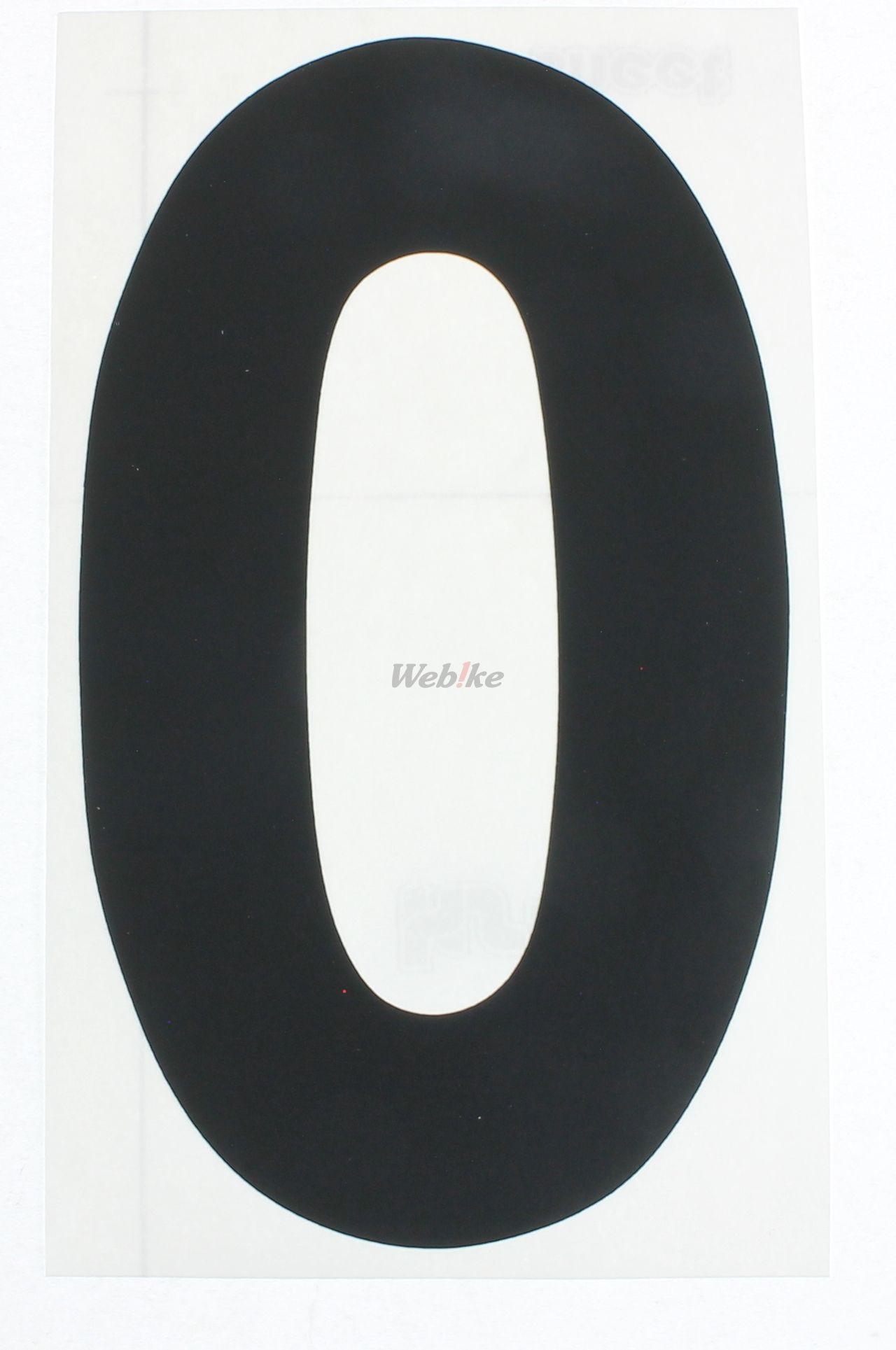 【KITACO】號碼貼紙<0> 前/黑色/3Mai - 「Webike-摩托百貨」