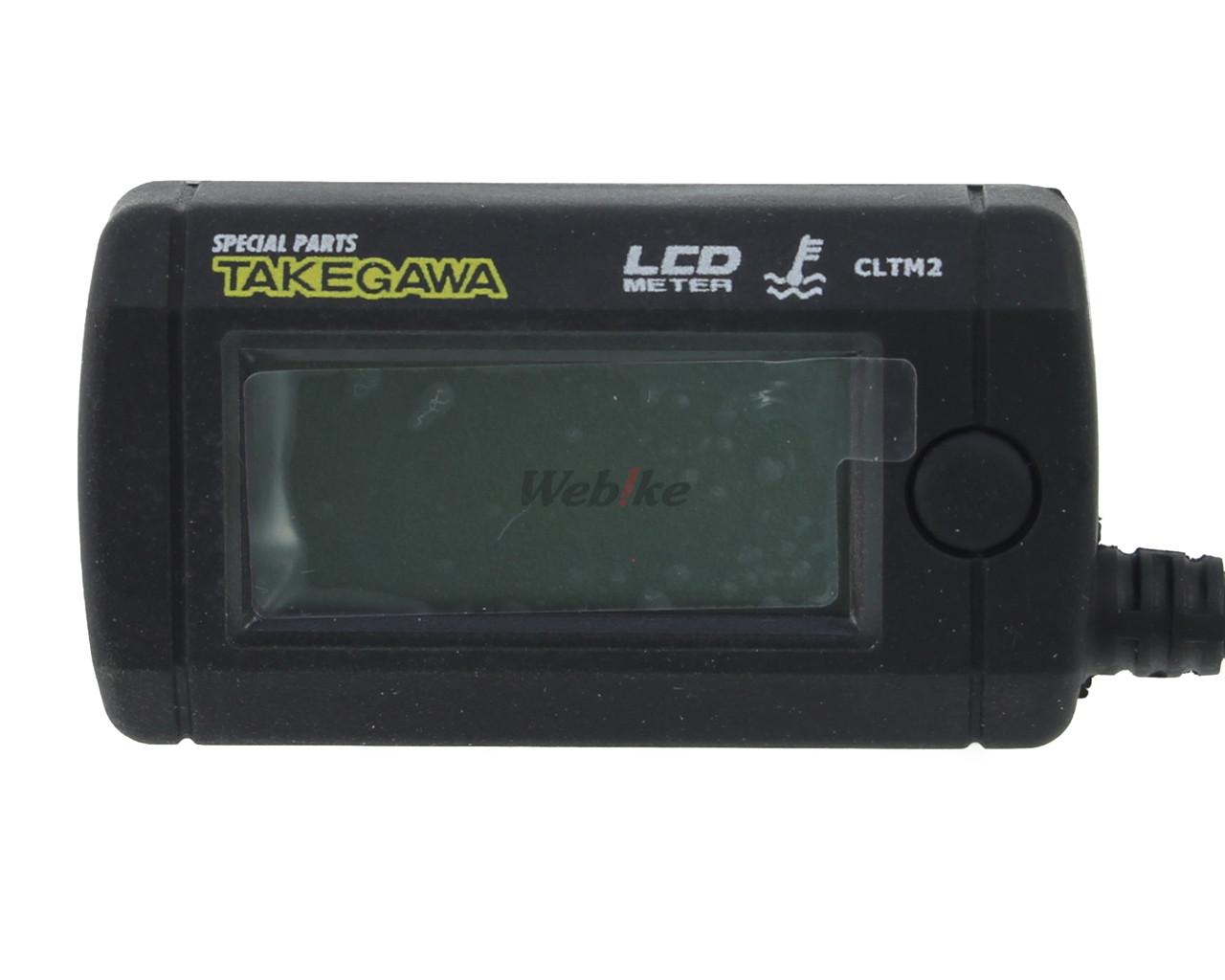 【SP武川】LCD 綜合溫度錶組(電池驅動/外部電源背光型式附MONKEY ,APE用洩油螺絲轉接頭) - 「Webike-摩托百貨」