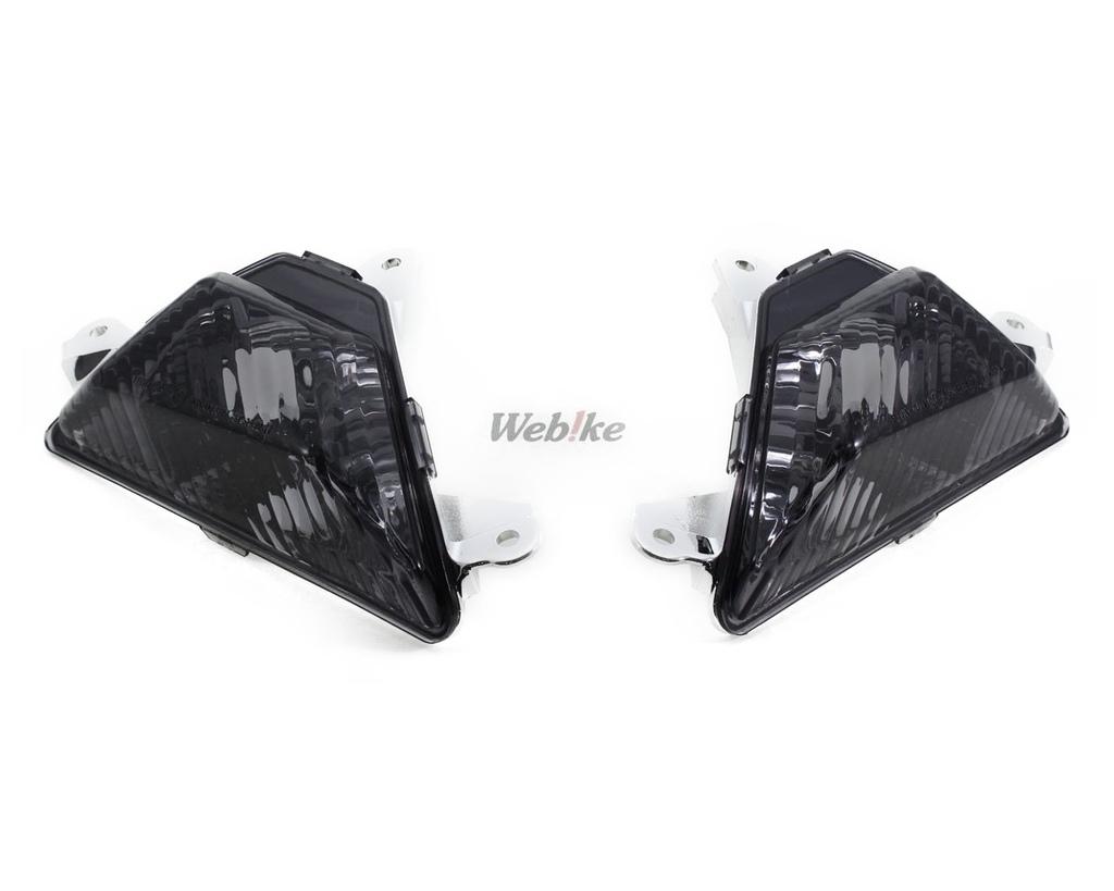 【POSH】燻黑色前方向燈殼組 - 「Webike-摩托百貨」