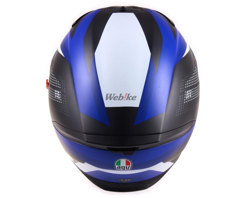 フルフェイスヘルメット AGV エージーブイ BLUE M/57-58cm WHITE/ K-5 S MARBLE MATT BLACK/ 送料無料