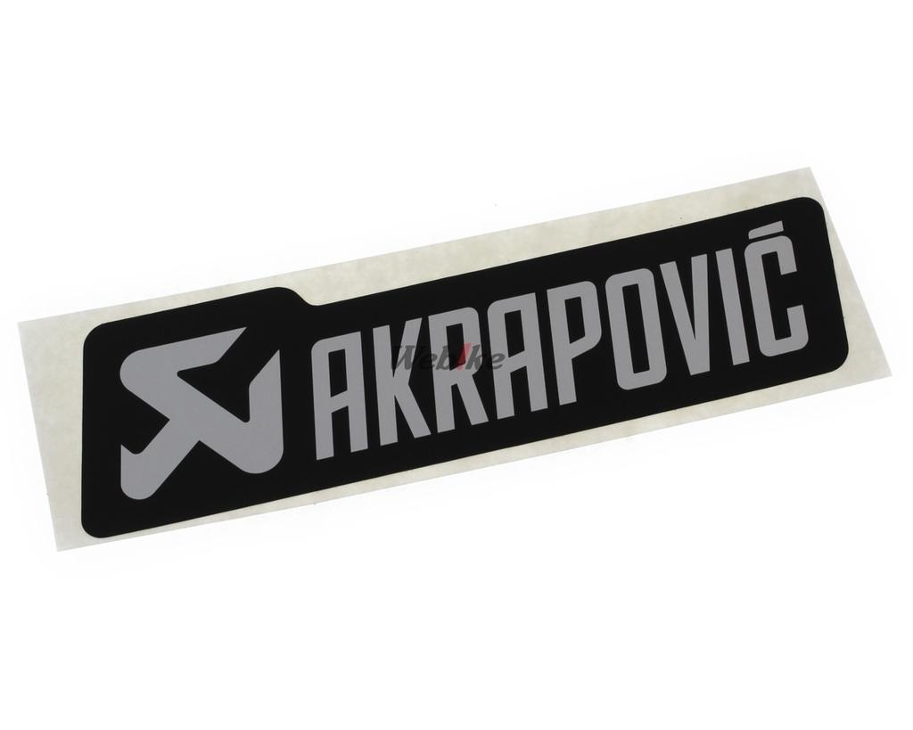 【AKRAPOVIC】鋁合金耐熱貼紙/横 - 「Webike-摩托百貨」