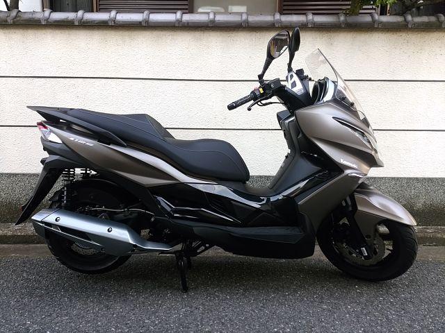 J125 とってもレアなカワサキのビックスクーター! 画像は2018年モデルです。