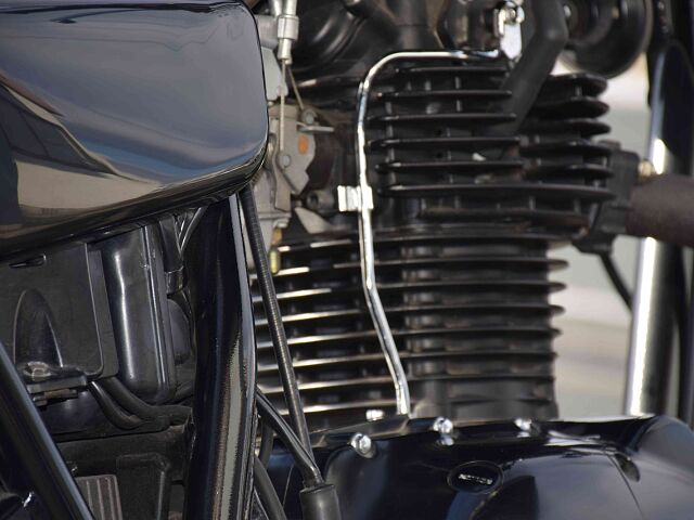 250TR 人気の高いオリジナル塗装を施したPEMCタンク! TRの魅力の一つ。絶妙な艶のブラックエ…