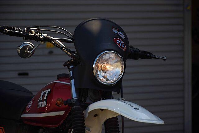 XT250 現状販売、保証対象外となります! フロントマスクも着脱が簡単です。